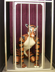 Caged Rubber Tiger|by GrowlTiger
