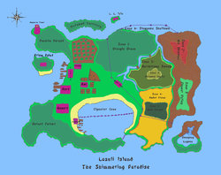 Map of Lazuli Island|by Pokegirl