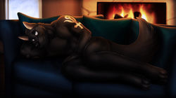 By The Fire - Raffle Picture for Northernwolf|by dream_and_nightmare