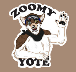 Zoomy Yote Badge