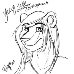 Yang-Wo Character Development Sketch|by Calypso the Wolf