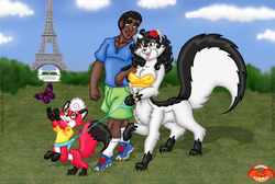 Family Stroll in Paris (Second Final)|by Solarblaze