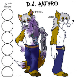 DJanthro Refrence sheet (SlackerJAW)|by Anthrogh The Golem
