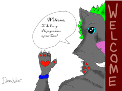 A warm welcome!|by DarkWolf_13