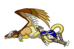 Gryphon Rider|by DashRaptor