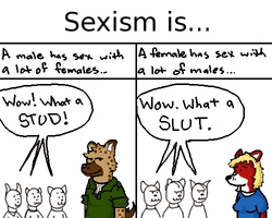 Sexism is...|by Rags