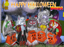 halloween pups|by tamati the nine tailed fox
