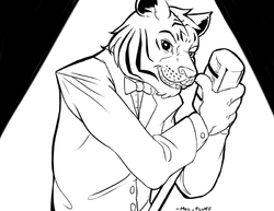 $10 ink commission for felesaerius|by mel_fluff