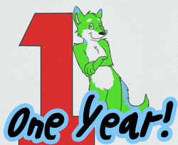 one year of furrydom!|by reaux