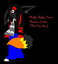 Maddy Shadow Eevee Furry|by emowolflion3