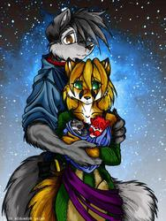 Wolf O'Donnell with wife and children|by KitKaramak