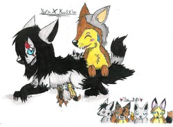 The Final Result of Kura and Kooskia's Breeding: Puppies! (February 2011)|by Shadoweon