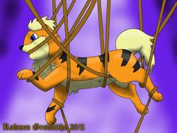Tangled Growlithe|by Rakuen Growlithe