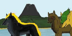 other drawing volcano pack|by Redwolf2005
