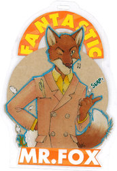 Mister Fox Conbadge - Cosplay Badge for Playfox|by PharZebra