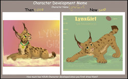 LynxGirl herself non-anthro form evolution