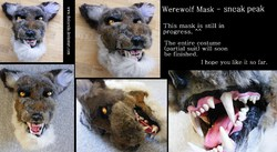 Werewolf Mask in progress|by TheKarelia