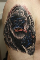 My new gorilla tattoo|by Lokan