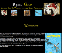 Kyell Gold Web-Page Waterways|by Dancefreak111