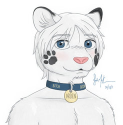 Arden Whitefur (avatar)|by Nocturnal Lupus
