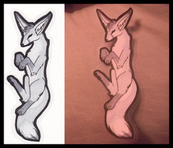 Silver Fox Bookmark|by Strativarious
