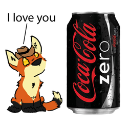 i love you coke zero ... WITH A HAT|by jakefolf
