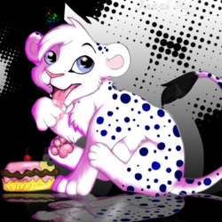 Birthday Kitty|by TazziHusky