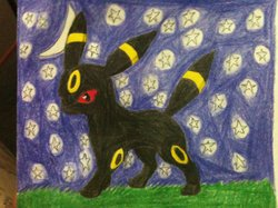Umbreon In the Dark|by Joey the Umbreon