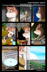 A new comic 'Gray's Christmas' page one Art by Kitsuneyoukai|by Gray Muzzle