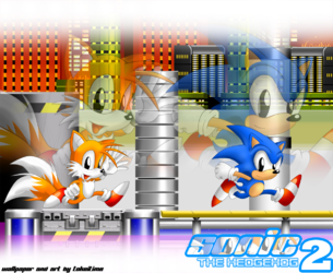 STW Sonic the Hedgehog 2 Chemical Plant Wallpaper 2|by TokeiTime