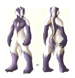 Adoptables furries : Badger guy adoptable auction ! Finished|by Shalinka