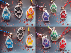 Canine paw charms|by Darkpheonixchild