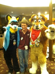 Me and some Fursuiters|by John the collie
