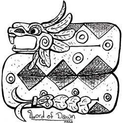 Quetzalcoatl Statue Icon|by DarkenedHart