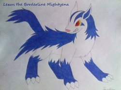 Lexus the Borderline Mightyena|by Joey the Umbreon