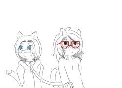 Pandee and Chrissy WIP|by PandaKat