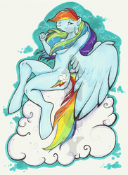 Rainbow Dash|by TheFancyHorse
