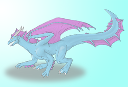 The Blue and Purple Dragon|by Hildale