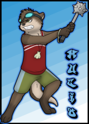 Mucio Chibi Fighting badge