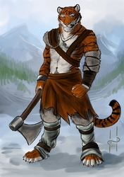 Tiger the barbarian|by Hufnaar