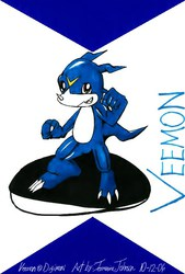 Digimon - Veemon|by JayDoggCollie