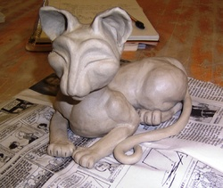 Egyptian Mau Sculpture|by Silia Hollow