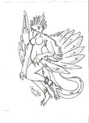 anthro-phoenix|by weird dragon