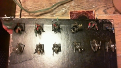 Skaven Starting Warband (top view)|by GladiatorW07f