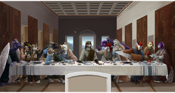 The Furry Last Supper|by FireFeathers