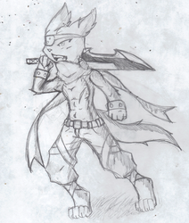 Max:warrior sketch|by avante92
