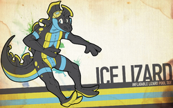 Ice Lizard Wallpaper|by icefoxx