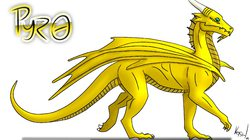 Pyro the Golden Dragon (as of Jan. 2012)|by Pyro The Dragon