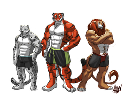 Three Big Kitties by Enydimon|by Drye