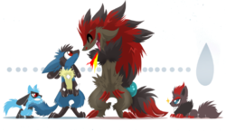 lucario-and-zoroark-ouch-by-knux-the-killer-d39ymke|by Salaav Onitrex